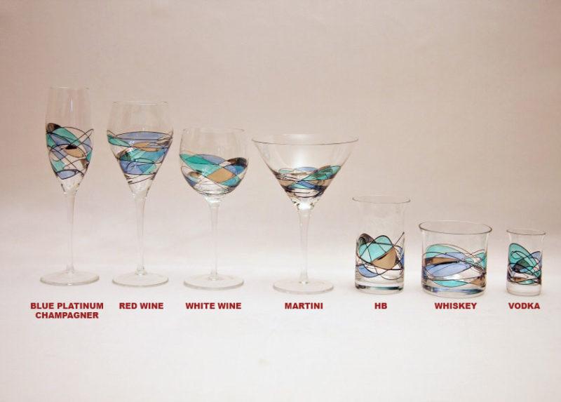 blue platinum champagner , red wine , white wine , martini , hb , whiskey , vodka